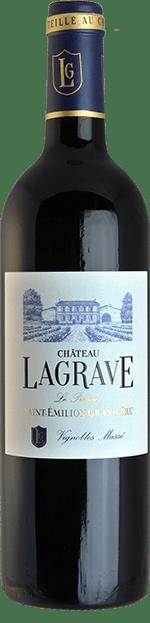 Bouteille de vin rouge - Château Lagrave - Sainte Emilion